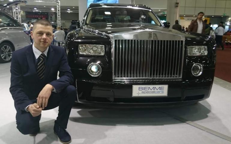 Олег Мілінський - керівник міжнародного похоронного бюро Funeralia - на похоронній виставці Tanexpo