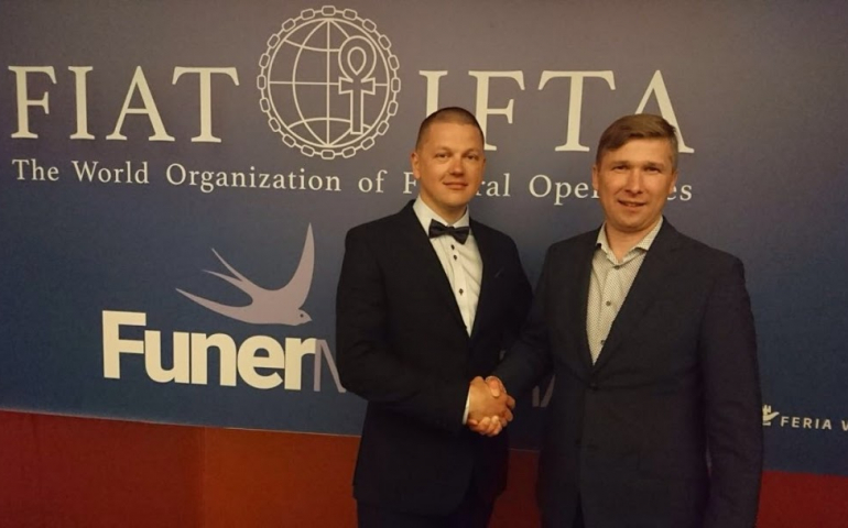 Олег Милинский - руководитель международного похоронного бюро Funeralia - на ежегодной встрече членов FIAT-IFTA