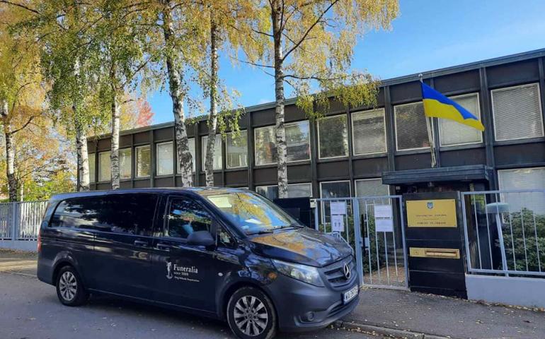 Перевозка умерших из Финляндии в Украину